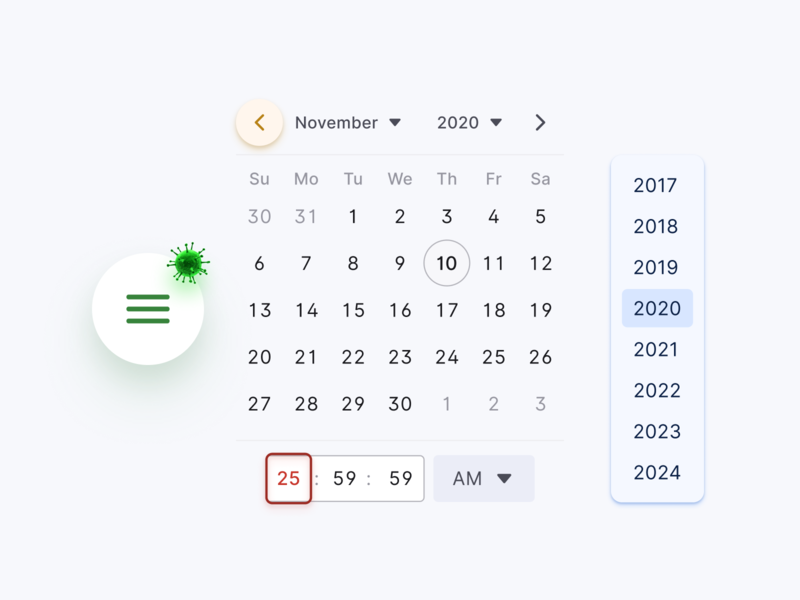 React Design System UI kit - Updates 2.0.1 component app design system ui kit figma code development web react timepicker range date time datepicker calendar menu hamburger