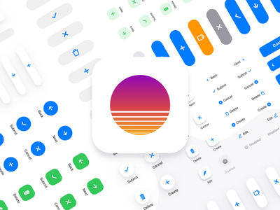 Case study: from Figma UI kit to the release of application icon iphone apple buttons button ux flutter prototyping kit templates ui kit ui design figma mobile ios hourney travel app