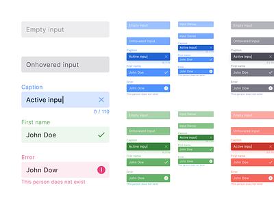 React UI kit - Input styles and states design ui app design system material ui kit templates text field input development web reactjs react