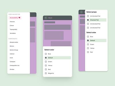 React UI kit - Navigation drawer design templates mobile ui templates ui kit design system figma sheet bottom navigation drawer development web reactjs react