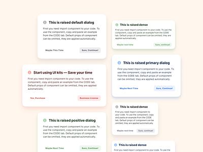 Figma UI kit React design system — Dialog popup template web design system ui kit design ui app figma react window dialog modal popup pop