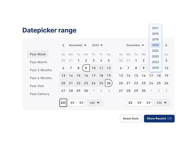Figma UI kit React design system — Datepicker range figma mobile web design system templates material ui kit react time date range datepicker calendar