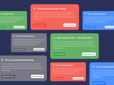 Figma UI kit React design system — Modals dark theme prototyping app templates design system web ui kit figma pop react window dialog popup modal