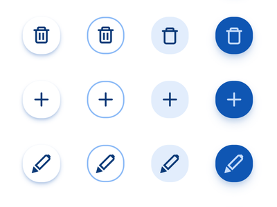 FAB Button UI design - Material X for Figma android mobile web design system material ui kit ui app figma pen plus add delete edit fab button