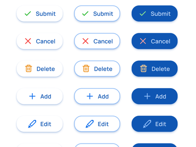 FAB Extended - Buttons UI design for Material X kit mobile web templates material ui kit design ui app figma rounded pill button