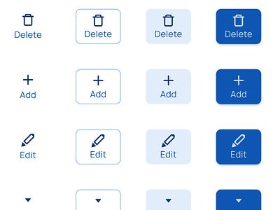 Rectangle buttons UI design - Figma Material X UI kit react prototyping web mobile design ui app templates ui kit material