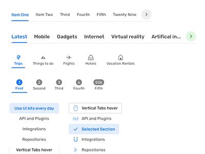 Material X design system UI kit - Figma Tabs system mobile web material ui kit design ui app figma tab navigation tabs