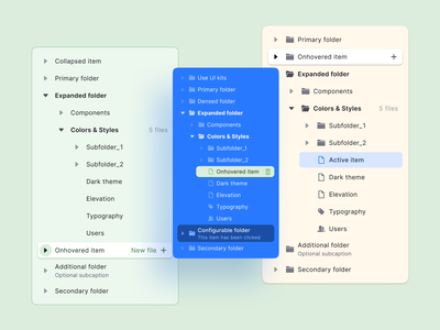 React UI kit for Figma — Design & Code toolkit 2-in-1 react menu navigation nav tree mobile web design system templates material ui kit design ui app figma