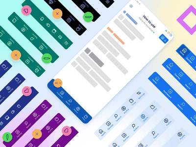 Bottom navigation app design - Material X UI kit min ios templates material ui kit design ui app figma bottom nav bottom app bar tab mockup