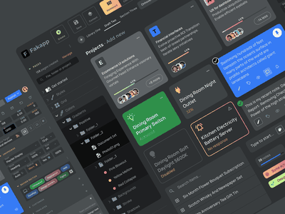Figma Dashboard UI kit - Desktop app dark template mobile web design system templates ui kit ui app figma dark desktop dashboard