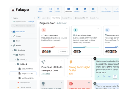 Figma Dashboard UI kit - Home screen navigation web design system templates material ui kit design ui app figma desktop dashboard