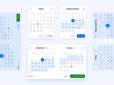 Calendar Datepicker templates - Material X Figma design system design templates mobile design system material ui kit ui figma datepicker date range calendar