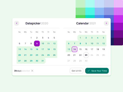 Range Datepicker UI design - Figma template design system templates material ui kit design ui app figma picker time date range calendar