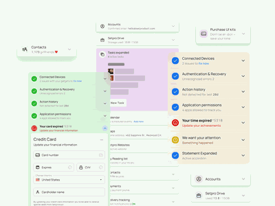 Accordion UI design - Figma Material X UI kit with app templates ios android mobile template templates ui kit design ui app figma navigation expanded expand menu accordion