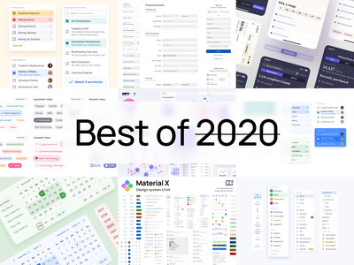 UI design inspiration - Best shots in review 2020 react android ios mobile web design system templates material ui kit ux ui app figma interface designer graphic inspiration