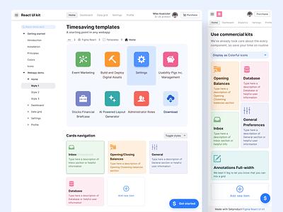 React UI kit - Figma dashboard templates css html webdev react template admin dashboard mobile web design system templates material ui kit design ui app figma