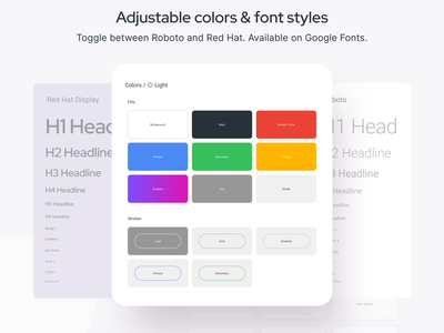 Material Design System templates for Figma template dashboard styleguide styles color mobile web design system templates material ui kit design ui app figma