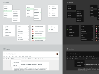 Figma templates — Material Design UI kit webdev template dashboard desktop admin android mobile web design system templates material ui kit design ui app figma