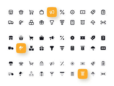 Figma UI kit with 1600+ Filled, Outlined, Duotone icons solid duotone outlined outline line filled icons icon ios android mobile web design system ui kit design ui app figma