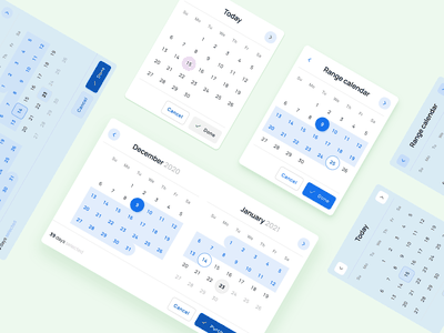 Figma Material X Design kit – Components and App Templates range calendar dashboard components android desktop mobile web design system templates material ui kit design ui app figma