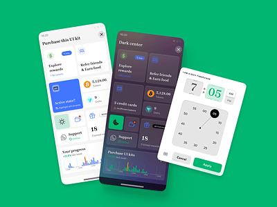 Figma iOS Android UI kit. Mobile design system & dashboard design system templates material ui kit design ui app figma