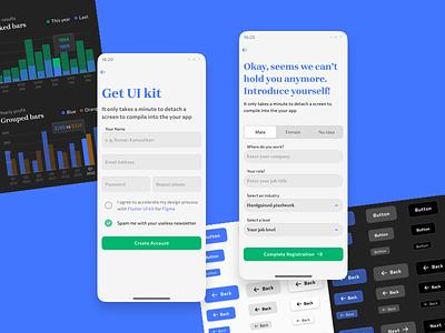 Design unique😲 mobile apps with Mobile–X Figma UI kit app design templates material ui kit design ui app figma