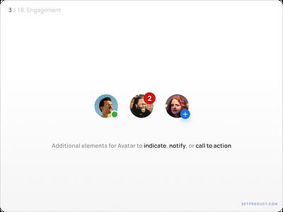 Avatar UI design guidelines - Engagement profile templates design ui app figma