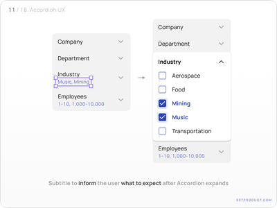 Accordion UI design user experience ux templates ui kit design ui app figma