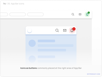 App Bar (Navbar) UI design — Events, Notifications android templates ui kit design ui app figma