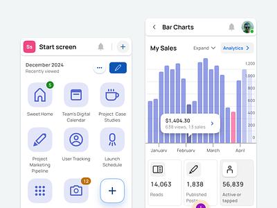 Figma UI kit — Material X mobile charts data grid material templates ui kit design ui app figma