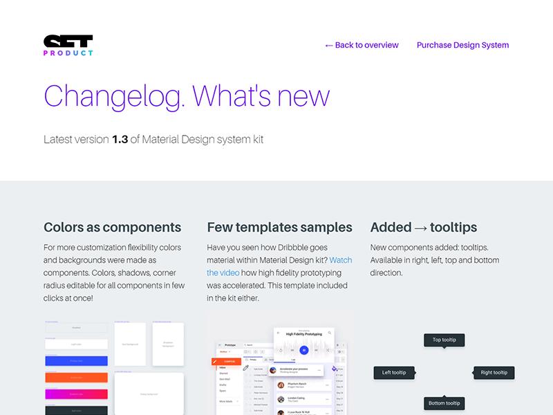 Material Design Ui System Changelog Added By Roman Kamushken On Dribbble