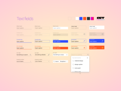 New inputs coming! figma ui kit design system outline stroke field text caption input