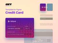 🆓 Credit card template for Figma