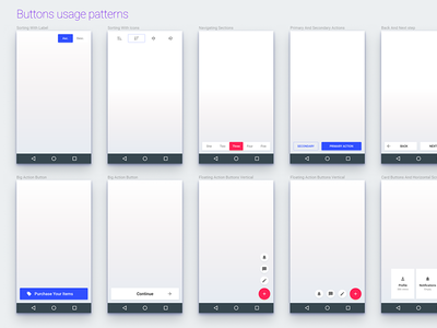 Material Design Buttons UI