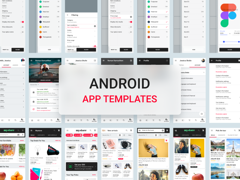 Android App Templates by Roman Kamushken on Dribbble