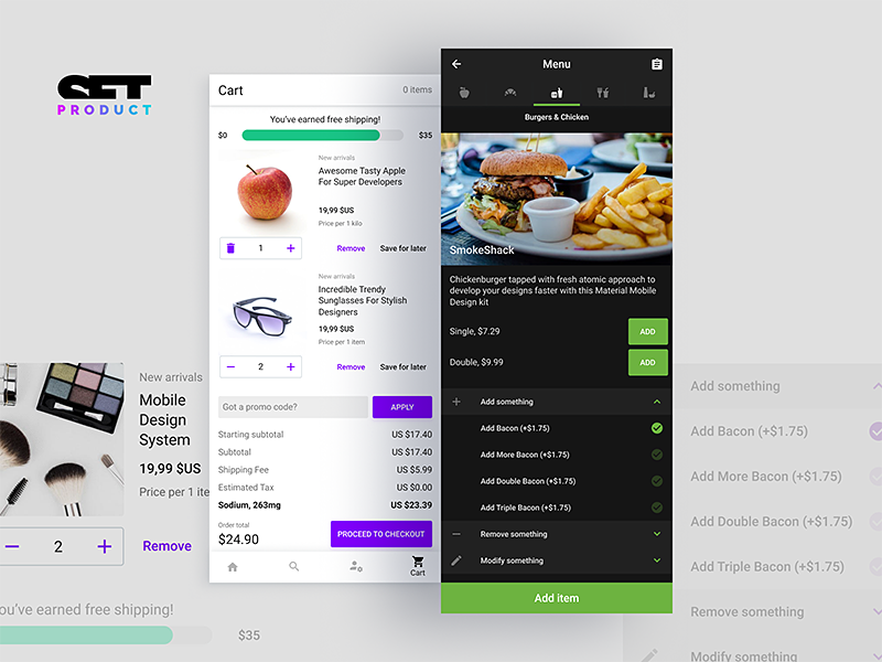 android ui design templates for figma by roman kamushken dribbble