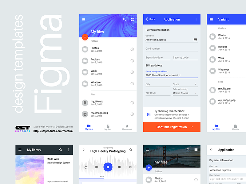 Figma design templates by Roman Kamushken on Dribbble
