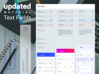 Figma design kit. Updated material text fields