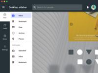 Material sidebar UI for desktop apps