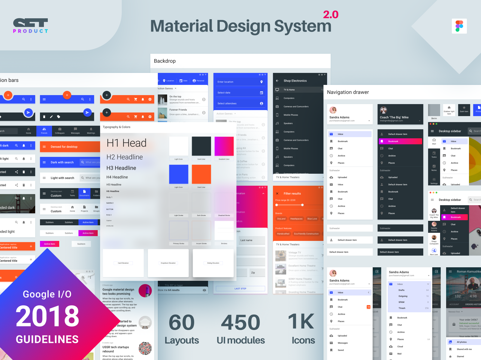 I updated my Figma design system with recent material 2018