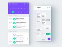 Figma calendar app templates
