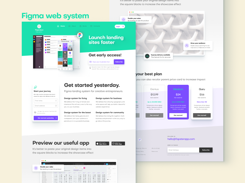 Figma web sites templates by Roman Kamushken on Dribbble
