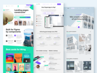 Figma landing pages templates