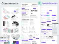 Web design components in Figma