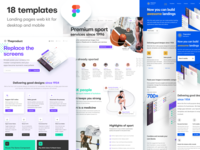Landing pages web kit for Figma