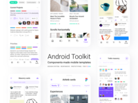Figma UI kit with Android design components