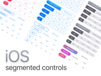 Figma iOS app templates · Segmented Components