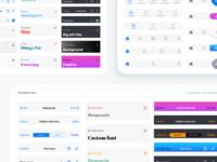 iOS Figma design components. Navigation bars