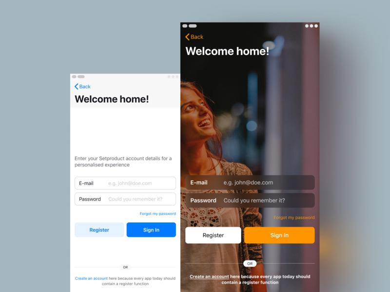 IOS App Templates · Login Screen by Roman Kamushken on Dribbble