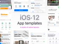 Figma iOS App Layouts Templates